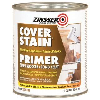 Zinsser 262764 1 Quart Cover Stain Interior & Exterior Primer