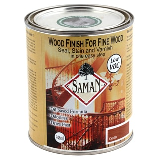 Saman Products SAM-303-1L 946 ML Cedar Wood Finish Seal, Stain & Varnish