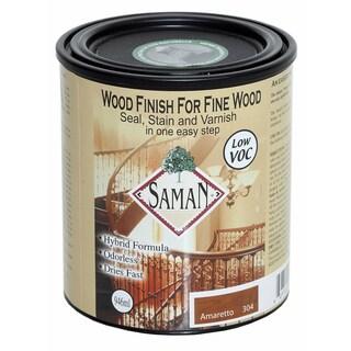 Saman Products SAM-304-1L 946 ML Amaretto Wood Finish Seal, Stain & Varnish