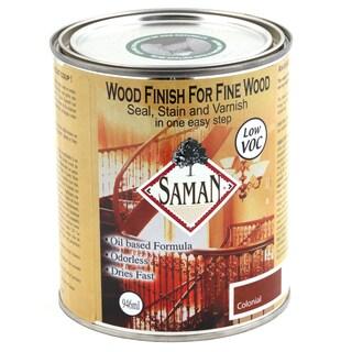 Saman Products SAM-305-1L 946 ML Colonial Wood Finish Seal, Stain & Varnish