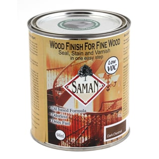 Saman Products SAM-308-1L 946 ML Dark Chestnut Wood Finish Seal, Stain & Varnish