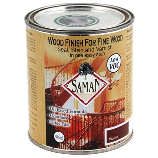 Saman Products SAM-309-1L 946 ML Walnut Wood Seal, Stain & Varnish Finish