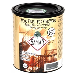 Saman Products SAM-319-1L 946 ML Prestige Gray Wood Finish Seal, Stain & Varnish
