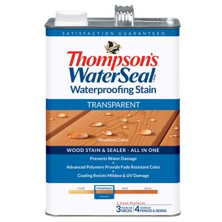 Thompsons Waterseal 41851 Transparent Woodland Cedar WaterSeal Waterproofing Stain|https://ak1.ostkcdn.com/images/products/12426392/P19243269.jpg?impolicy=medium