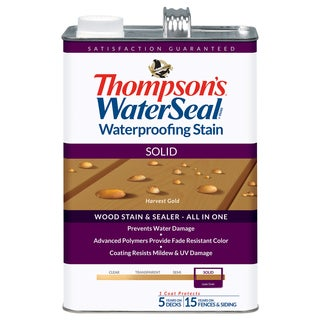 Thompsons Waterseal 43811 Solid Harvest Gold WaterSeal Waterproofing Stain