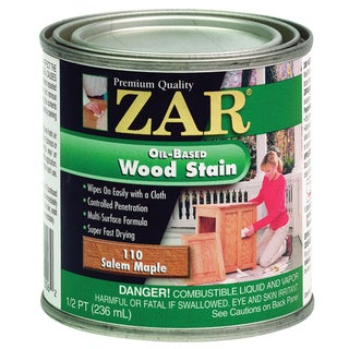 Zar 11006 1/2 Pint Salem Maple Zar Oil Based Wood Stain