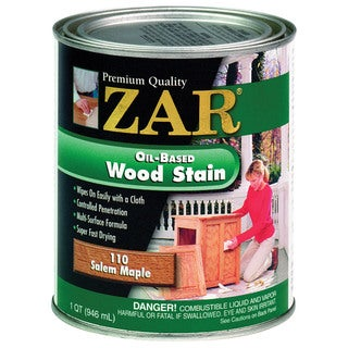 Zar 11012 1 Quart Salem Maple Zar Oil Based Wood Stain