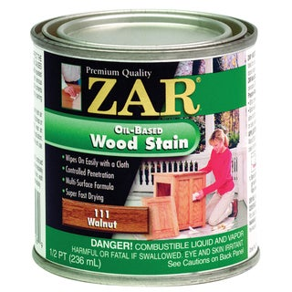 Zar 11106 1/2 Pint Walnut Zar Oil Based Wood Stain