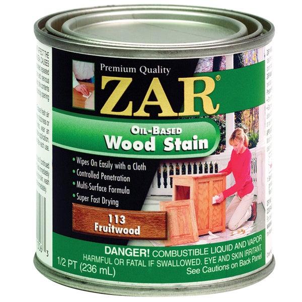 Zar 11306 1/2 Pint Fruitwood Zar Oil Based Wood Stain