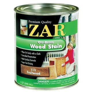 Zar 11344 1 Quart Fruitwood Zar Oil Based Wood Stain