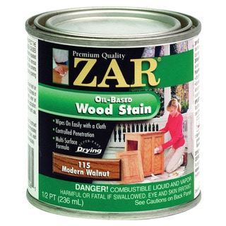 Zar 11506 1/2 Pint Modern Walnut Zar Oil Based Wood Stain