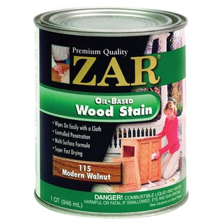 Zar 11512 1 Quart Modern Walnut Zar Oil Based Wood Stain