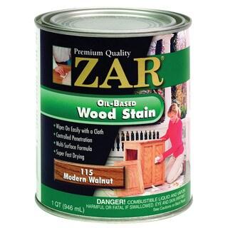 Zar 11512 1 Quart Modern Walnut Zar Oil Based Wood Stain
