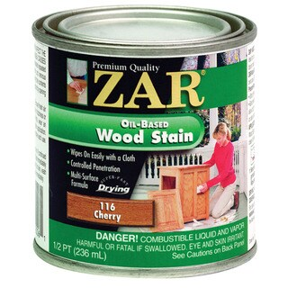 Zar 11606 1/2 Pint Cherry Zar Oil Based Wood Stain