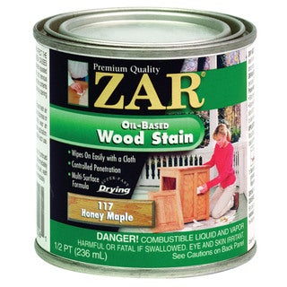 Zar 11706 1/2 Pint Honey Maple Zar Oil Based Wood Stain