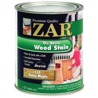 Zar 11712 1 Quart Honey Maple Zar Oil Based Wood Stain