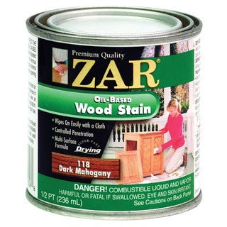 Zar 11806 1/2 Pint Dark Mahogany Zar Oil Based Wood Stain