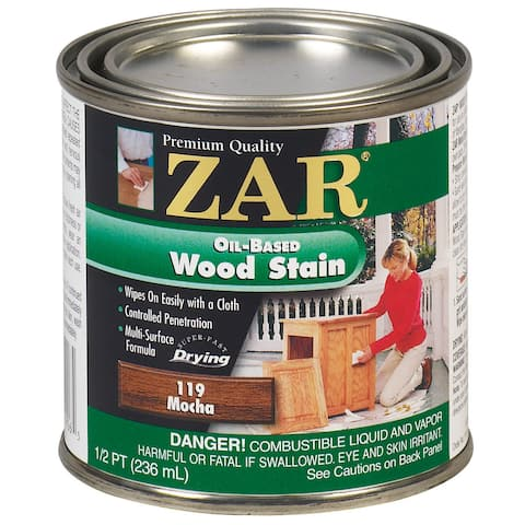 Zar 11906 1/2 Pint Mocha Zar Oil Based Wood Stain
