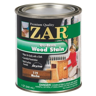 Zar 11912 1 Quart Mocha Zar Oil Based Wood Stain