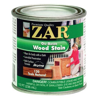 Zar 12006 1/2 Pint Teak Natural Zar Oil Based Wood Stain