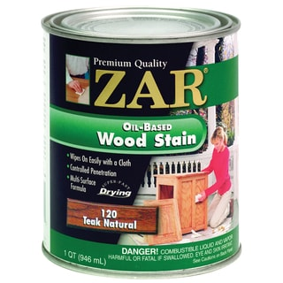 Zar 12012 1 Quart Teak Natural Zar Oil Based Wood Stain