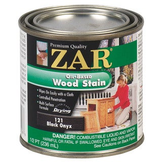 Zar 12106 1/2 Pint Black Onyx Zar Oil Based Wood Stain