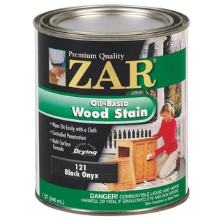 Zar 12112 1 Quart Black Onyx Zar Oil Based Wood Stain