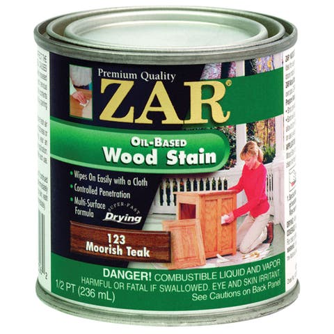 Zar 12306 1/2 Pint Moorish Teak Zar Oil Based Wood Stain