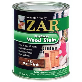 Zar 12312 1 Quart Moorish Teak Zar Oil Based Wood Stain