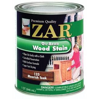 Zar 12312 1 Quart Moorish Teak Zar Oil Based Wood Stain