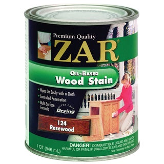 Zar 12412 1 Quart Rosewood Zar Oil Based Wood Stain