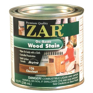 Zar 12606 1/2 Pint Chestnut Zar Oil Based Wood Stain