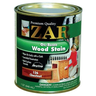 Zar 12612 1 Quart Chestnut Zar Oil Based Wood Stain