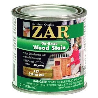 Zar 12706 1/2 Pint Golden Oak Zar Oil Based Wood Stain