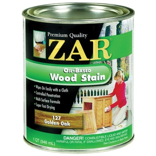 Zar 12712 1 Quart Golden Oak Zar Oil Based Wood Stain