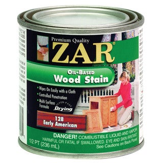 Zar 12806 1/2 Pint Early American Zar Oil Based Wood Stain