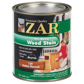 Zar 12912 1 Quart Amber Varnish Zar Oil Based Wood Stain