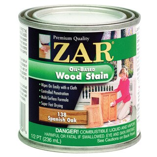 Zar 13806 1/2 Pint Spanish Oak Zar Oil Based Wood Stain