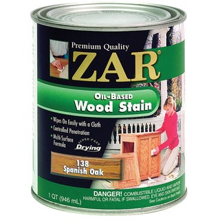 Zar 13812 1 Quart Spanish Oak Zar Oil Based Wood Stain