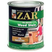 Zar 13812 1 Quart Spanish Oak Zar Oil Based Wood Stain