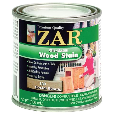 Zar 13906 1/2 Pint Coastal Boards Zar Oil Based Wood Stain