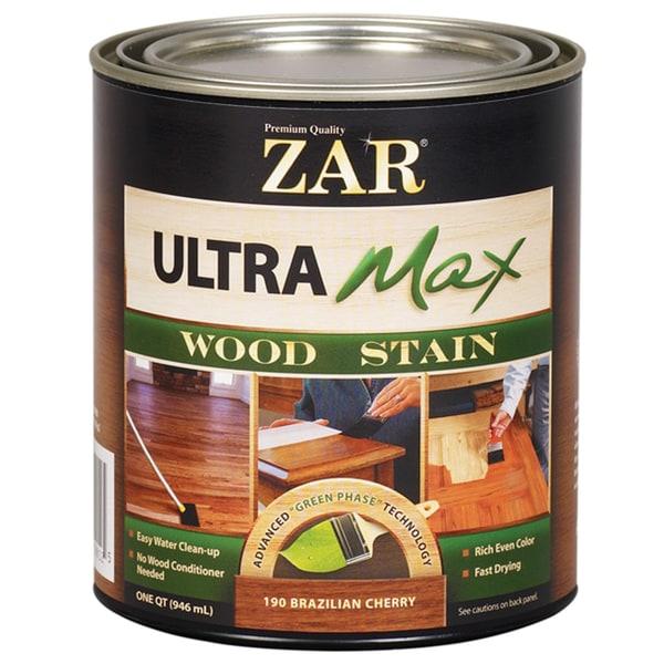 Zar 19012 1 Quart Brazilian Cherry Ultra Max Wood Stain
