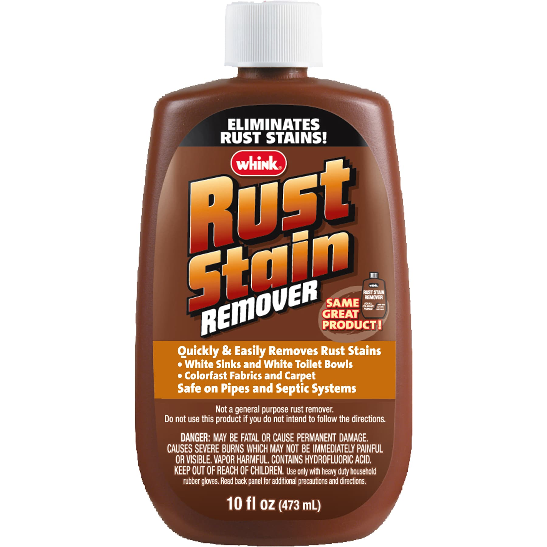 Whink Products 01081 10 Oz Rust (Red) Stain Remover (Clea...