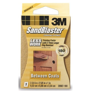 3M 20907-180 180 Grit SandBlaster Between Coats Sanding Sponge Block