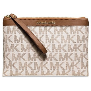 Michael Kors Signature Tech Zip Wristlet