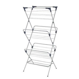 YBM HOME #1582-10 3-tier Foldable Water-resistant Steel Clothes Drying Rack