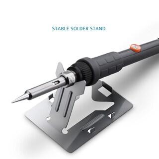 60W 110V 5-Piece Adjustable Temperature Welding Soldering Iron Kit - Black