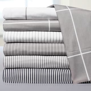 Loft Collection Pinstripe, Classic Stripe and Windowpane Modern Sheet Sets
