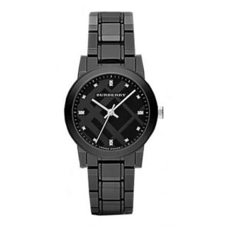 Burberry Women's BU9183 'The City' Diamond Black Ceramic Watch