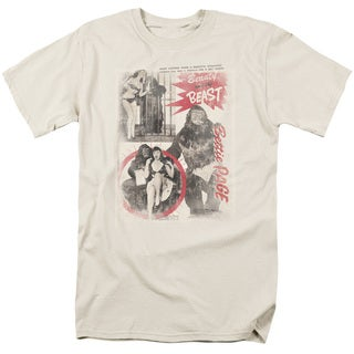 Bettie Page/Beauty & The Beast Short Sleeve Adult T-Shirt 18/1 in Cream